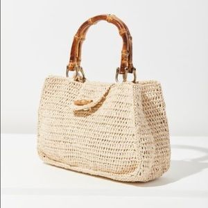 Sally Straw Bamboo purse